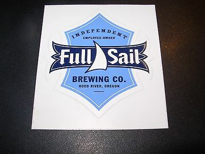 FULL SAIL Blue Independent Logo STICKER decal craft beer brewery brewing