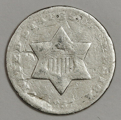 1851-o 3 Cent Silver.  Circulated.  113258