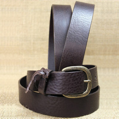 "Justin Brown  1-1/2"" Leather Work Basic Mens Belt Made In The Usa"