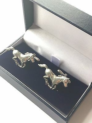 Horse, Pony Equestrian Hand Made Pewter Cufflinks (N298) Gift Boxed