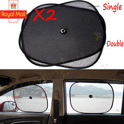 2x Car Window Foldable Blinds Sun Block Shades Baby Children Interior Protection