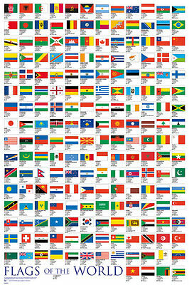 GN0547 Flags Of The World  MAXI POSTER SIZE 91.5 x 61cm