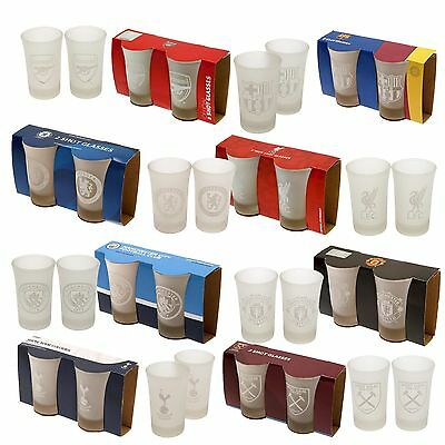 Official Football Club - Frosted SHOT Glass Set (Pack of 2) All Teams (Gift)