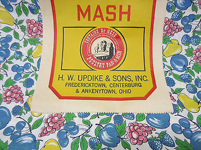 Vintage Updike Brand Mix Mash Uncut Fabric Feed Sack -Fredericktown,Oh. #2