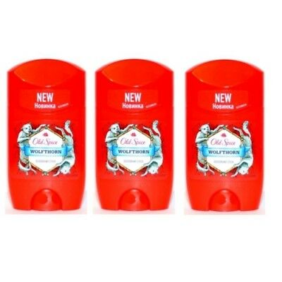 Old Spice WOLFTHORN Deodorant Stick / Deostick 50ml 3er Pack