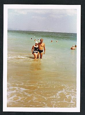 FOTO vintage PHOTO, Frau Badeanzug Strand Badekappe woman swimwear beach /59s