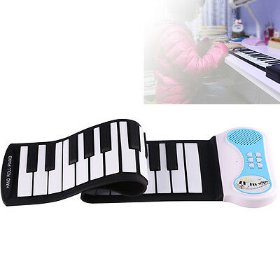 37 Keys 8 Tone Silicon Hand Roll Up Piano Electronic Keyboard Musical Instrument