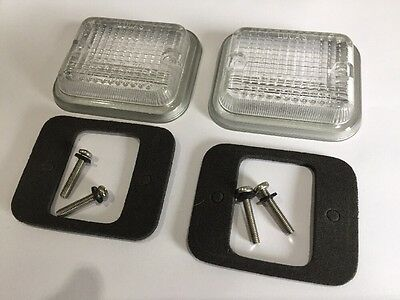 Mgb Reversing Light Lucas Lens Set Inc Gaskets/ Screws BS6-6