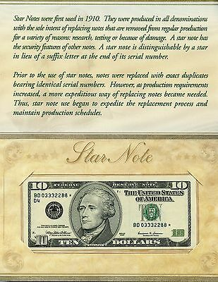 Uncirculated Series 1999 $10 U.S. Federal Reserve Star Note JE421