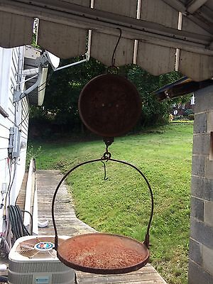 Old Vintage  Store Hanging Farm Scale Rusty Rustic Farm Primitive Decor