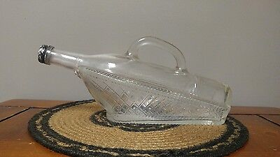 Vintage Boat Shaped Bottle with Lid and Handle