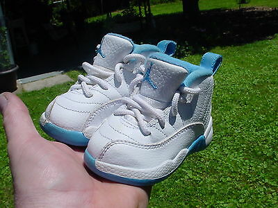 Air Jordans Retro 12 Carolina Blue Baby Size 4C WOW!!!