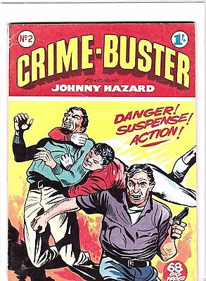 CRIME-BUSTER COMIC  # 2  1950s   BRITISH EDITION,  68 PAGES