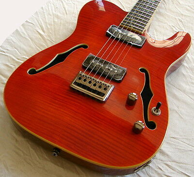 Stunning Raven West Electric Guitar Amber Flame