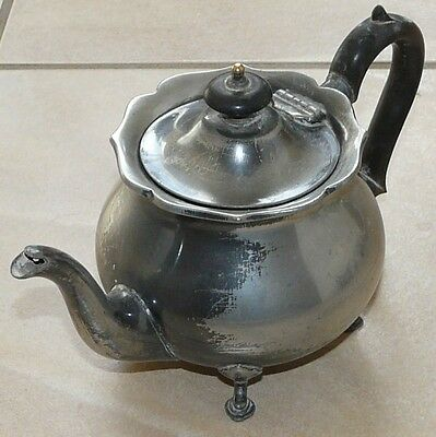 Victorian Shabby Chic Teapot for 2 Silver plated By Martin Hall & Company