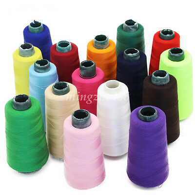 20 Colors DIY Sewing Machine Line Polyester Embroidery Thread 3000Yards / Roll