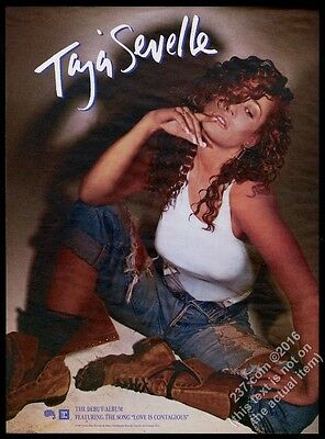 1987 Taja Sevelle color photo Love Is Contagious song release vintage print ad