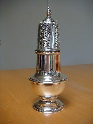 Wakely & Wheeler Sterling Silver Britannia Muffineer Sugar Shaker Heavily Made