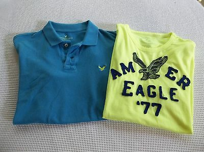 Lot American Eagle Mens Shirts Large Graphic 3D Logo Tee Polo Good Light wear L