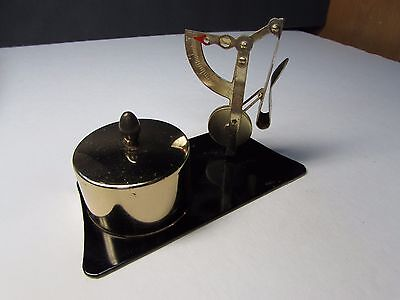 Vintage Postage Stamp Holder And 2 Oz Letter Scale In One