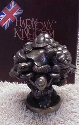 Harmony Kingdom Artist Masters Bronze Turtles Weight Of The World New In Box