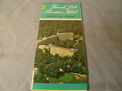 Vintage 1967 French Lick Sheraton Hotel French Lick Indiana Brochure