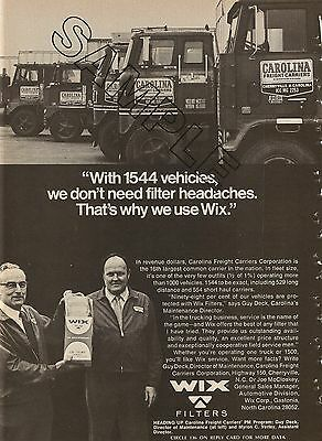 CAROLINA FREIGHT CARRIERS 1973 B&W Ad Mixed Fleet of Whites & IH Tractors
