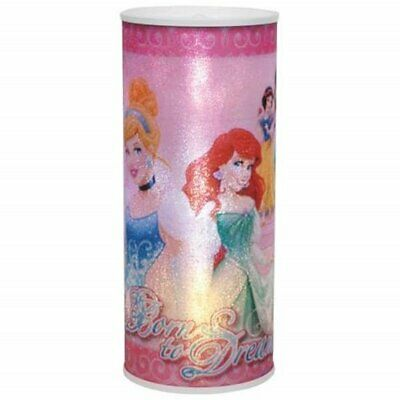 Walt Disney Princesses Born To Dream Cylindrical Changing Colors NightLight NEW