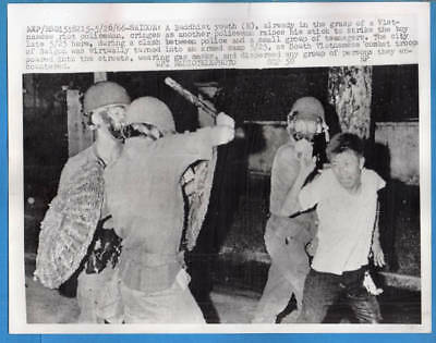 1966 Vietnamese Riot Police Strike Buddhist Saigon Original Press Radiophoto