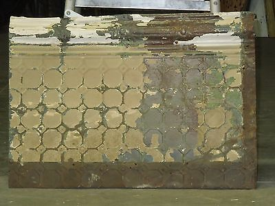 "Old Antique ( Metal )  tin ceiling tile  24""x 17"""