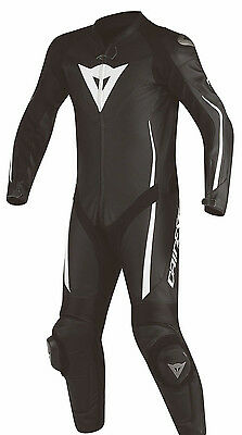 Dainese 1513447 LEATHER SUIT MOTORCYCLE RACING SUIT 1 Piece Ate Black White 948