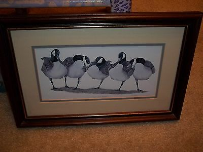 "Art Lemay Signed Print ""the Big Boys"" Canadian Geese Framed & Matted"