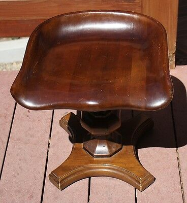 Fabulous Vintage Raymond Enkeboll Wooden Carved MODERNIST Chair Stool