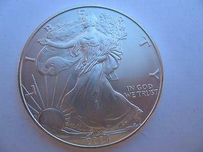 1-Oz..999  2004 Silver American Eagle Liberty Dollar B/u From Mint Tube + Gold
