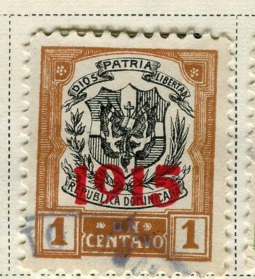 DOMINICA;  1915 early definitive issue Optd. used 1c. value