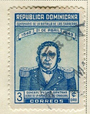 DOMINICA;  1949 early Santana issue fine used 3c. value