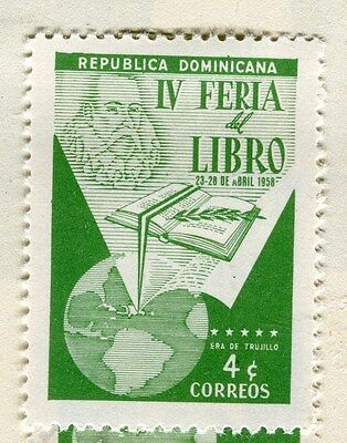 DOMINICA;  1958 early Book Fair Mint hinged 4c. value
