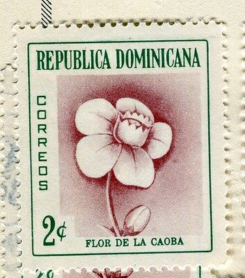 DOMINICA;  1957 early Flowers Mint hinged 2c. value