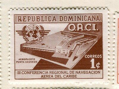 DOMINICA;  1956 early Navigation Congress Mint hinged 1c. value