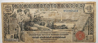 1896  US $1 One Dollar Silver Certificate, Educational Note , VG-Fine !