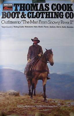"""The man from Snowy River"" ein Poster von Thomas Cook Australien"