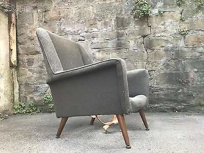 VINTAGE RETRO 1950's 1960's ARMCHAIR FOR REUPHOLSTERY Ernest Race Style