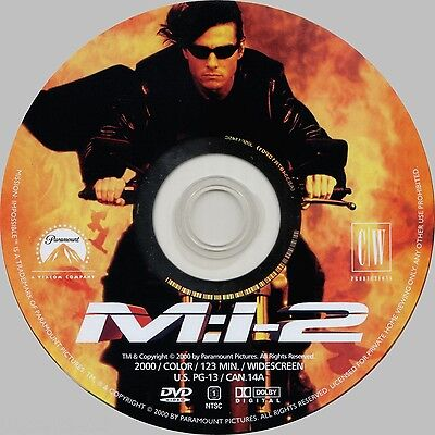 Mission: Impossible II (Widescreen DVD) Thandie Newton, Tom Cruise **Disc Only**