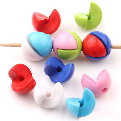 Lots 20Pcs Mixed Acrylic Loose Spacer Beads Craft Jewelry Findings DIY 12MM