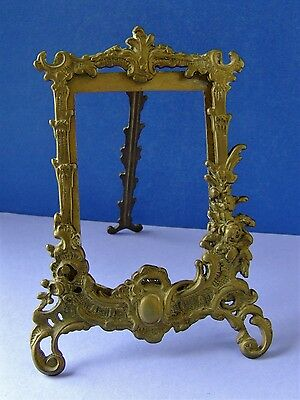 An Ornate Vintage Brass Photo Frame...Standing