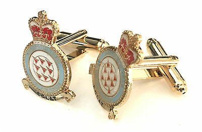 RAF The Red Arrows Royal Air Force Jets Official Enamel Crested Cufflinks (N60)