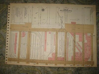 Antique 1955 Lincoln Tunnel Beer Brewery Central Railroad New York City Map Rare