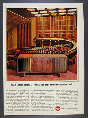 1966 Seattle Opera House photo RCA Victor Annapolis Model Stereo vintage Ad