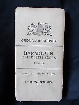 Antique Ordnance Cloth survey map of Barmouth.1903.
