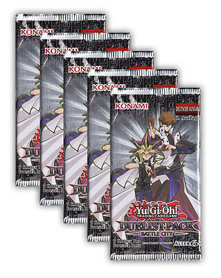 Yu-Gi-Oh! Duelist Pack Battle City - 5 Booster Packs Deutsche Ausgabe 1. Auflage